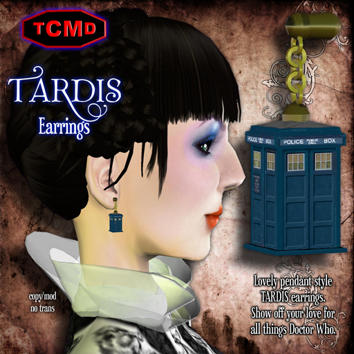 TARDIS-Earrings-BLUE