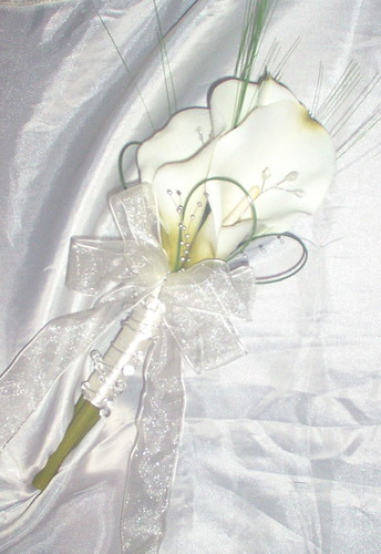 *julie 327po* adult bridesmaids calla handtied bouquet by FLOWERGEM4U.