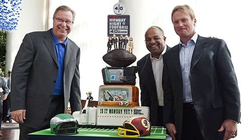 ESPN Monday Night Football 40th Anniversary cake made by Charm City Cakes and the Food Network's Ace of Cakes