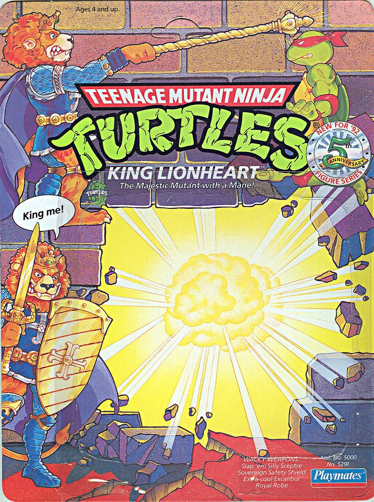 TEENAGE MUTANT NINJA TURTLES::  KING LIONHEART ..card backer i (( 1991 - 1992 ))