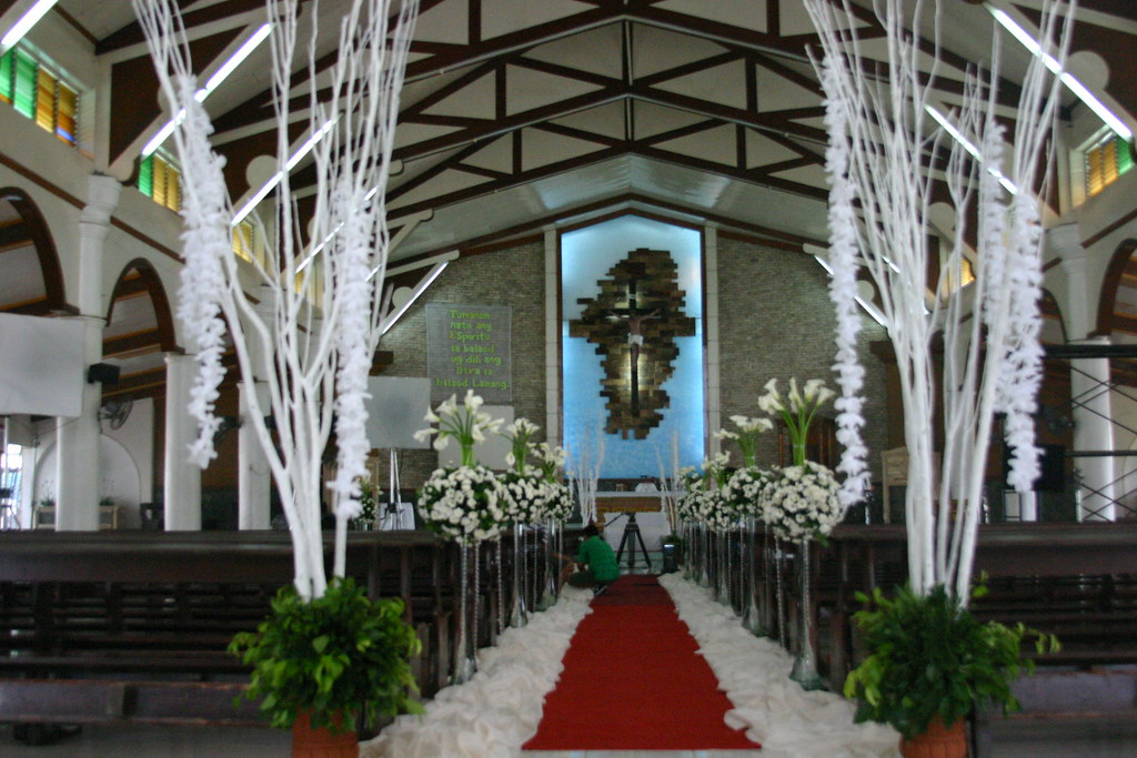 Sts. Peter & Paul Parish Lagao spruced up for the Sam-Toni Wedding Shoot