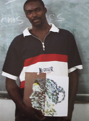 Student with Portrait, Haiti