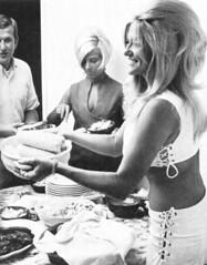 Linda Vaughn entertains at home (torinodave72) Tags: girl june golden nikki phillips f1 linda nascar firebird marsha miss vaughn pure bennett cochran shifter hurst nhra usac ahra