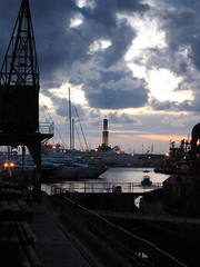 (JimmY2K) Tags: sunset sea lighthouse port faro tramonto mare genoa genova porto zena lanterna