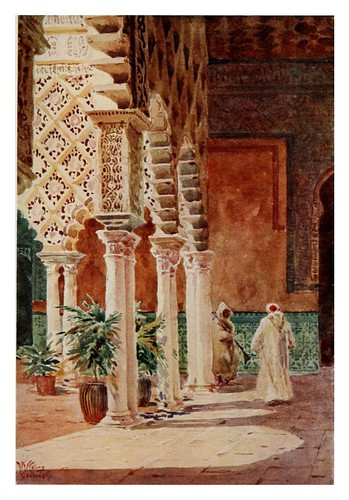 002-Sevilla-En el Alcazar-Cathedral cities of Spain 1909- W.W Collins
