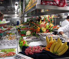 photo - Galley Market Buffet (Jassy-50) Tags: cruise italy sculpture food fruit sushi boat photo ship spirit cruiseship buffet veggies galley foodcarving seabourn 20thanniversary italy2009 italycruise2009 galleybuffet 20thannivitaly2009