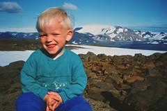 Highlands of Iceland - Almost At The Top of Glacier OK (1141 m.a.s.l) - Summer 1994 (Sig Holm) Tags: family friends island iceland islandia glacier 1994 ok sland islande icelandic islanda jkull photoscan ijsland konicat3 islanti     slenskt jklar risjkull highlandsoficeland canon8800f