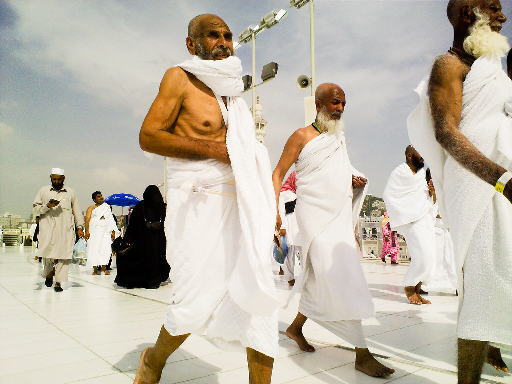 Hajj, Pilgrims, Mecca, Pilgrims on the roof of the Grand mosque