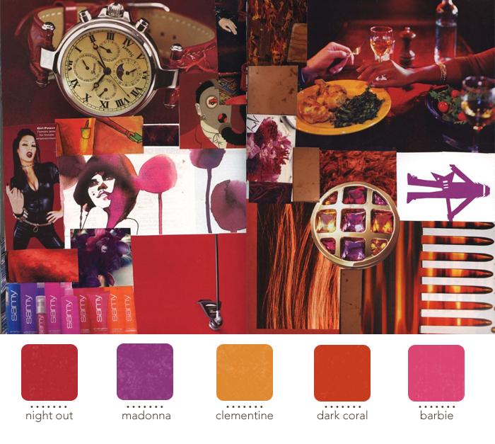 interior design orange pink purple red wedding planning yellow