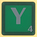 scrabble letter Y