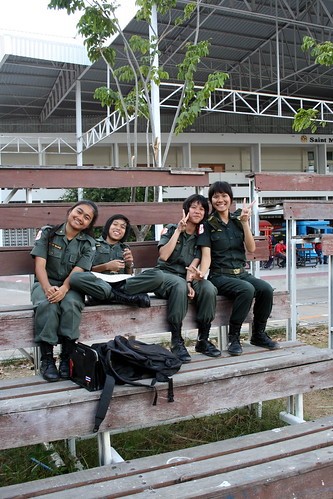 Thai School Girl Soldiers