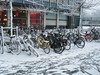 Bikes parked at TU Delft (crwilliams) Tags: snow netherlands delft tudelft date:month=december date:day=17 date:year=2009 date:hour=09 date:wday=thursday