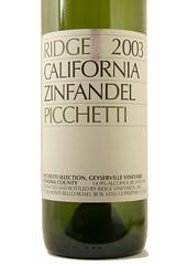 2003 Ridge Picchetti Zinfandel