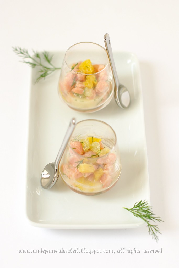 Tartare saumon aux agrumes