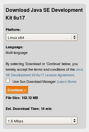 sun java sdk  linux