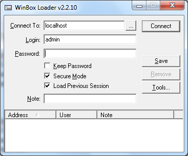 How to access Mikrotik using winbox in Virtualbox – Techonia