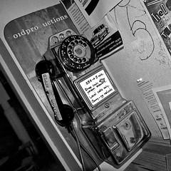 Pay Phone (stepside77) Tags: urban photoshop blackwhite nikon midwest downtown phone d70 metro iowa payphone adobe blackdiamond desmoines lightroom cs4 javajoes blackwhitephotos