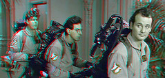 Ghostbusters (Anaglyph 3D) (patrick.swinnea) Tags: dvd stereoscopic stereophoto 3d anaglyph billmurray danaykroyd haroldramis 3dconversion protonpacks