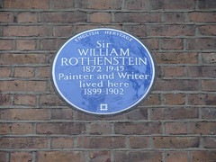 Photo of William Rothenstein blue plaque