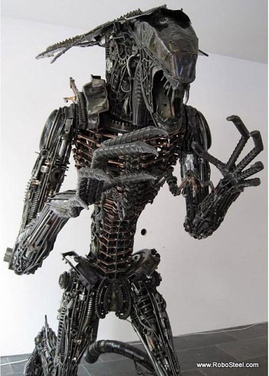 Metal Alien Sculpture