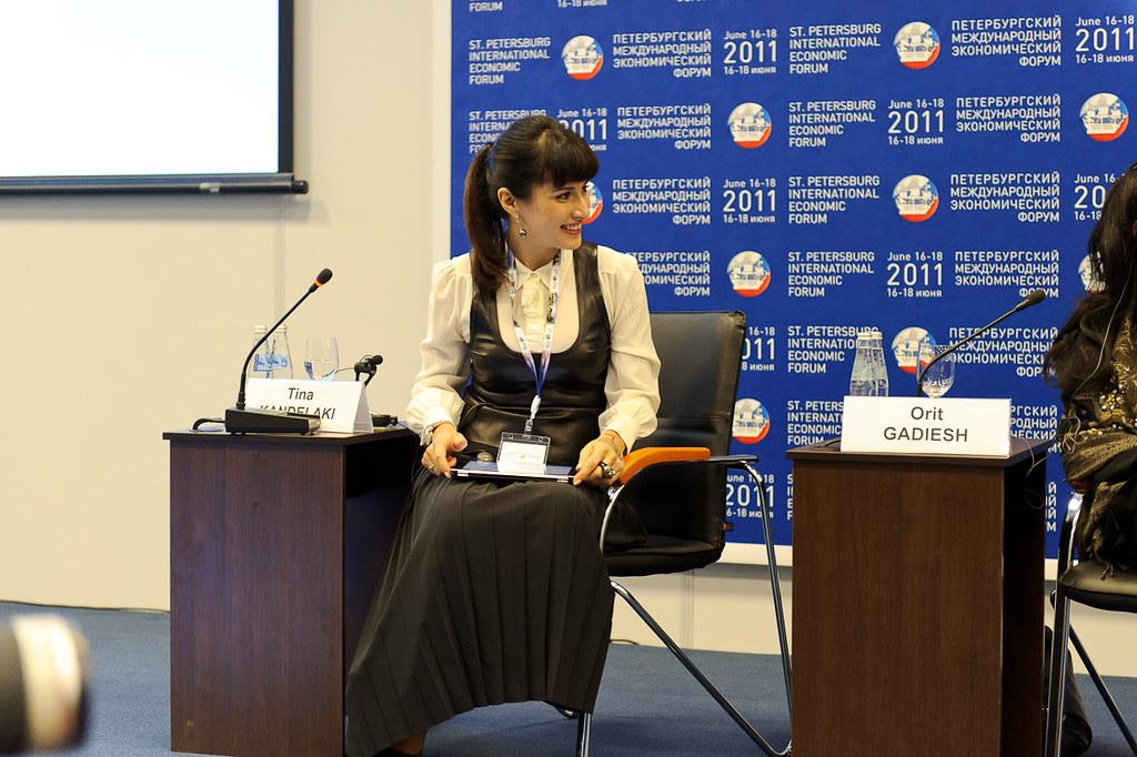 Тина Канделаки на Петербургском экономическом форуме