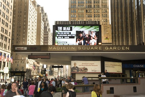 Marquee at Madison Square Garden for The Dead on 4/25/09