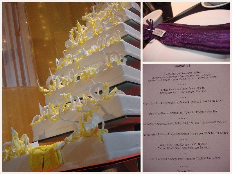 the menu, the chopsticks & the CAKE