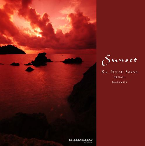 Pulau Sayak Sunset #1 (Cokin)