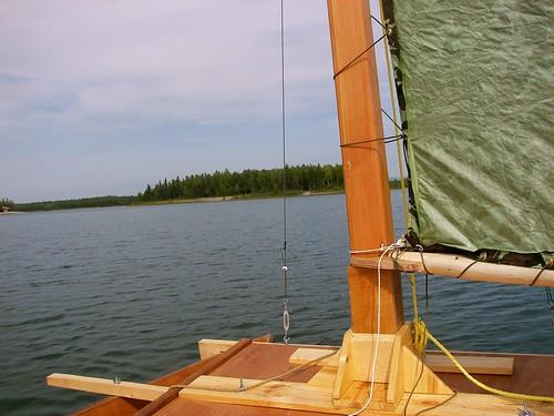 summer alaska boat woodwork