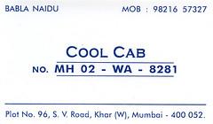 Taxi namecard