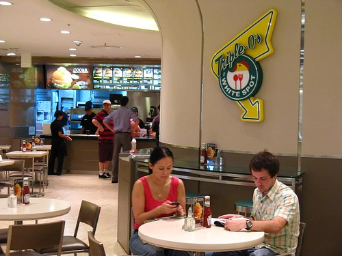 White Spot Triple O's at Pacific Plaza, Central, Hong Kong