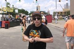 Me (Josh Sinn) Tags: summer nirvana maryland tshirt baltimore surprised canonae1 2009 streetfair seahorses artscape zebrasunglasses ncaahat joshsinn joshuasinn