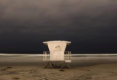 Lunar Del Mar (Agent Cooper) Tags: ocean california longexposure beach night clouds sand sandiego lifeguard delmar lifeguardstation