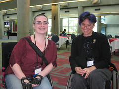 Denise Paolucci and Liz Henry at OSCON