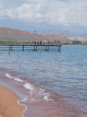 Issyk Kul lake in Kaji-Sai