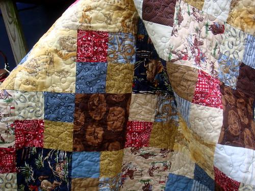 cowboy quilt front