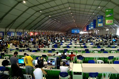 Carpa Campus Party (by Cristina Granados)