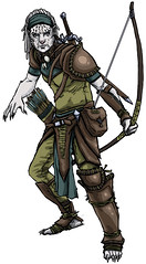 Razorclaw Shifter Ranger ({osito}) Tags: ranger drawing rpg bow dungeonsanddragons arrows dual archer dd shifter dnd wield razorclaw