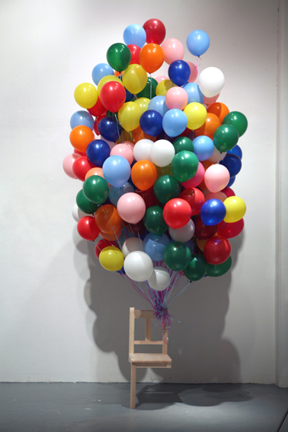 Untitled          100 X 100 X 250 (inch)          Balloon, Wood.