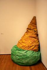 Floor Cone (thejcgerm) Tags: nyc newyorkcity ny newyork art museum gallery artgallery modernart moma museumofmodernart icecream beanbag claesoldenburg icecreamcone beanbagchair floorcone