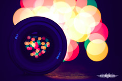 When you are in Love you can't fall asleep because reality is better than your dreams... (achew *Bokehmon*) Tags: color love night circle lens 50mm colorful bokeh f14 sony alpha 90mm tone f28 a300 lensthrulens