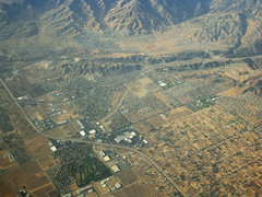 Above Amargosa Creek, Palmdale and the San Andreas fault, Los Angeles County, California (cocoi_m) Tags: california sanandreasfault fault antelopevalley palmdale sanandreas sangabrielmountains aerialphotograph losangelescounty highway14 leonavalley amargosacreek