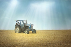 Old Fashioned Tractor (Ben Heine) Tags: old blue light summer wallpaper sky tractor art ford field car composition work vintage season print poster wagon photography robot countryside iron belgium nikond70 farm steel country wheels transport champs culture machine voiture oldschool missouri travail revolution cylinder vehicle farmer diffusion sunrays copyrights moderntimes campagne mules ferme province transmission tracteur invention oldfashioned ecosystem chevaux ancien carlsandburg acier digitalcapture roues cultiver rayonsdusoleil benheine tirer braives americanpoemscom hubertlebizay hubzay infotheartisterycom
