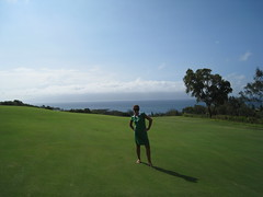 I'm not really sure what I was doing here (katie_longmire) Tags: golf hawaii maui kapalua kapaluaplantationcourse