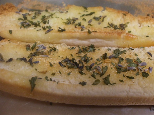 Lavender Garlic Bread