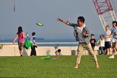 Frisbee (B&C Photography.SG) Tags: marina landscape singapore marinabarrage