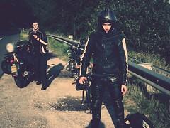 The Bigger Picture... (rednesd) Tags: road boy woman men face leather bike vintage honda nikon sundown side angry bmw oldtimer biker r75 r755 licence d90 rednesed rednesd