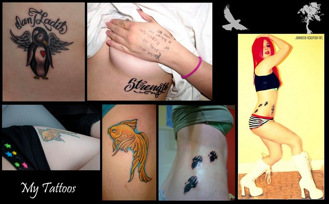 JAMAiCA Goldfish's TATTOOS! All of my tattoos :)