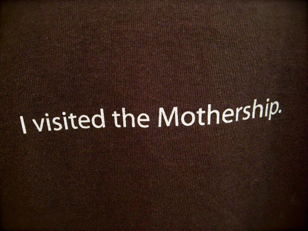 """I visited the Mothership"" t-shirt at the Apple Company Store"