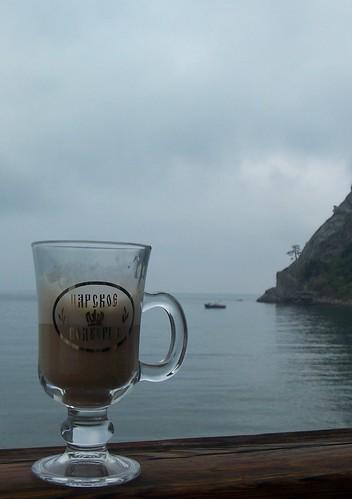 Café con vistas al Mar Negro